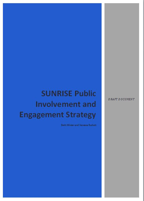 Sunrise Public Involvement and Engagement Strategy